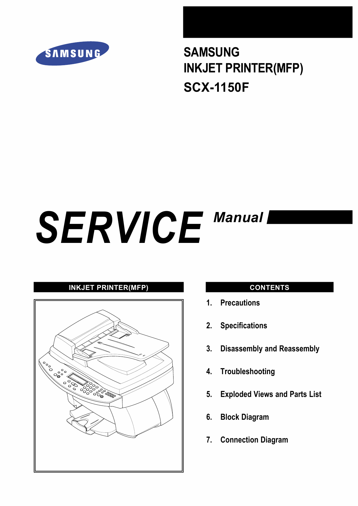 Samsung InkJet-MFP SCX-1150 Parts and Service Manual-1